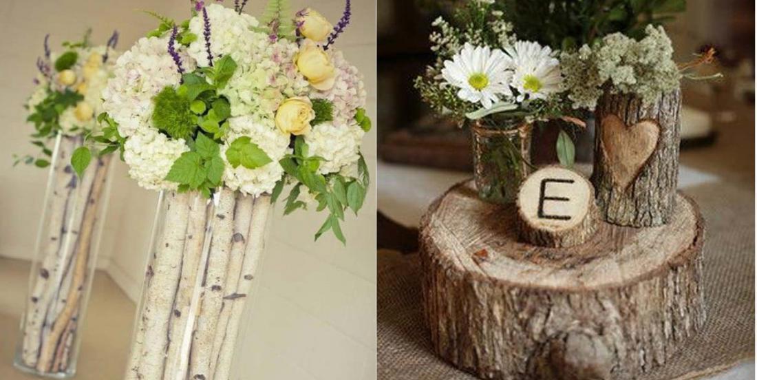 12 idées pour fabriquer des vases avec des bûches ou des troncs d'arbres