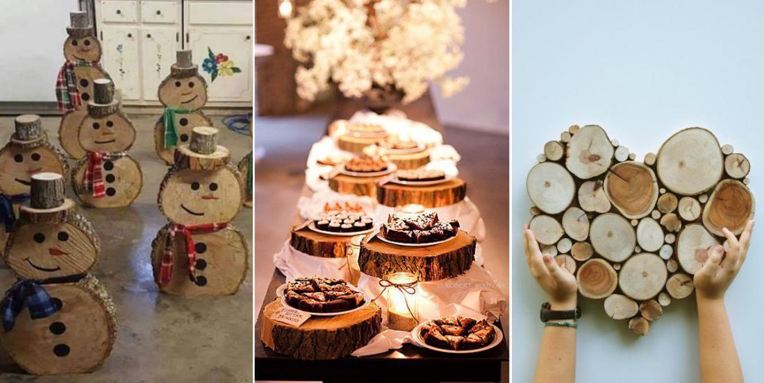 Il est possible de créer de nombreuses décorations à partir de rondins de bois