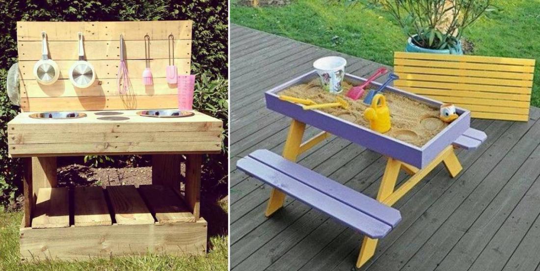 20 projets pour enfants à faire avec des palettes de bois