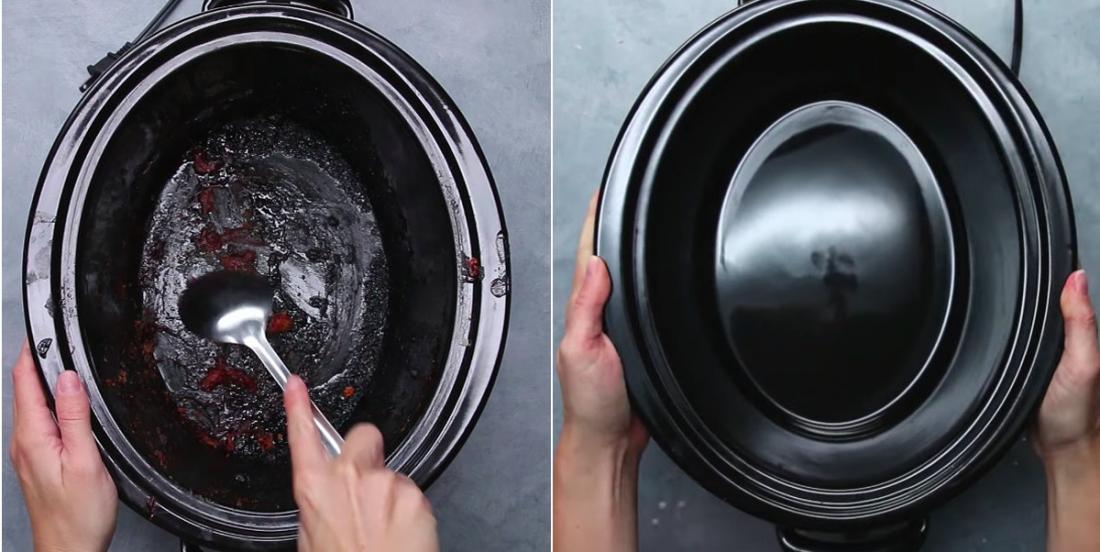 Avec seulement 2 ingrédients, lavez votre mijoteuse électrique facilement et sans l'abîmer