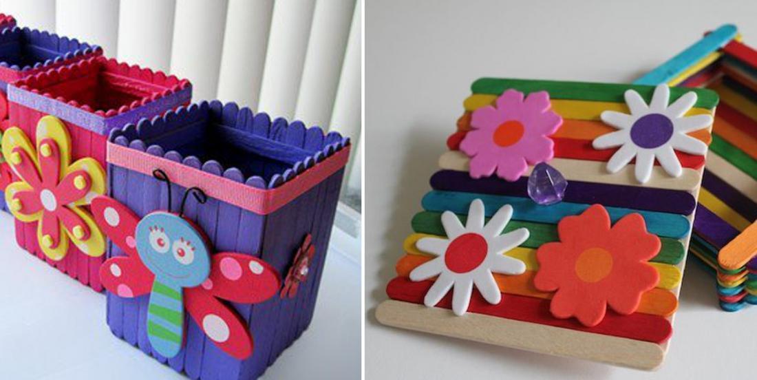 8 bricolages pour enfants à faire avec des bâtons à café