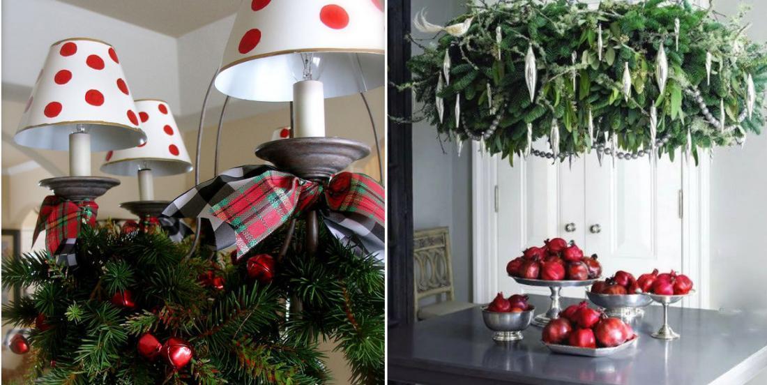 14 façons de décorer un lustre pour Noël