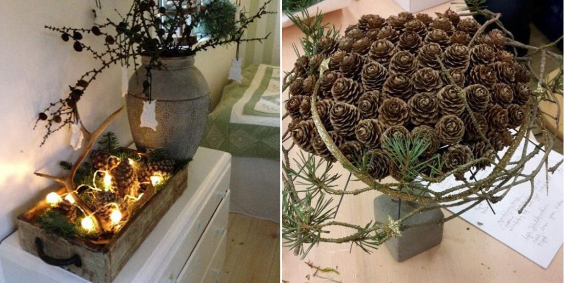 12 décorations faciles à réaliser soi-même à partir de pommes de pin