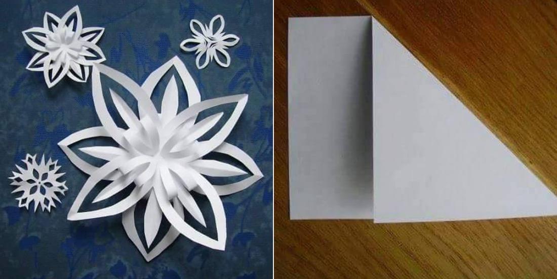 Comment fabriquer des flocons de neige en 3D avec des feuilles de papier!