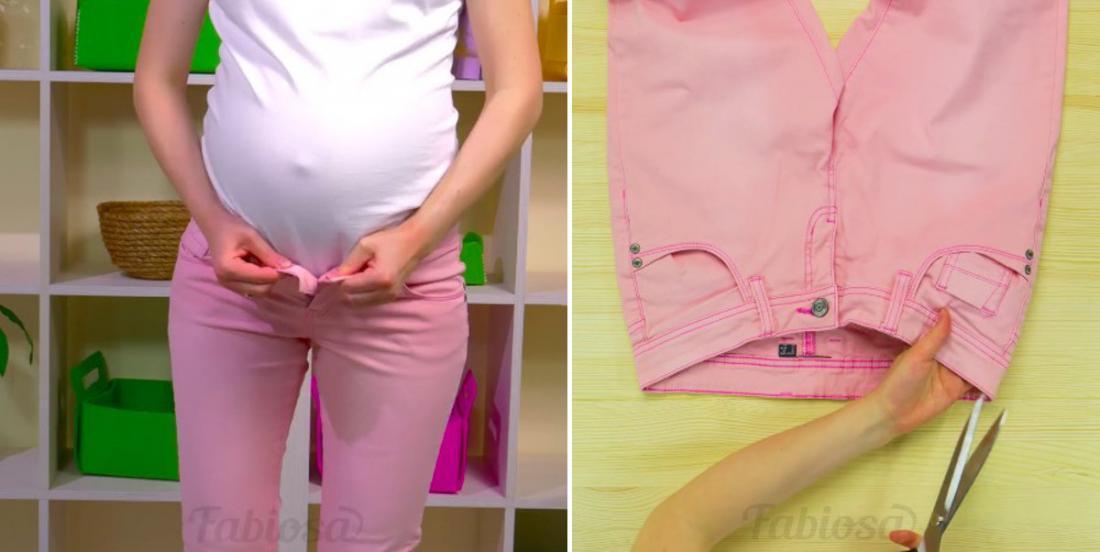 Modifiez un pantalon facilement afin de pouvoir le porter jusqu'à la fin de votre grossesse