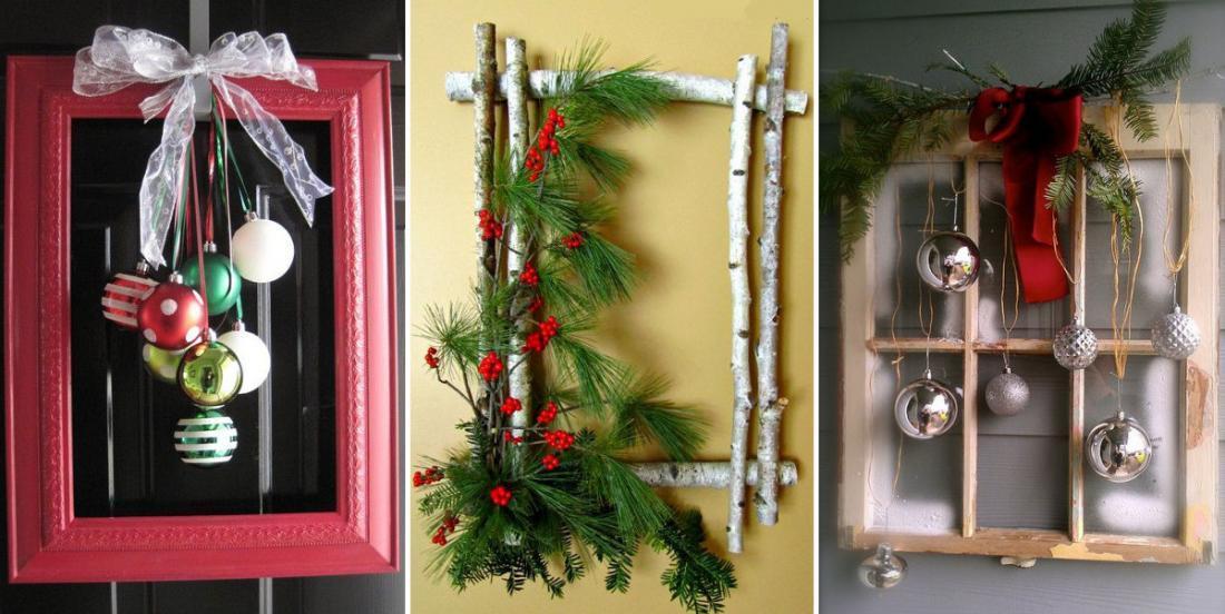 20 façons de transformer de vieux cadres photos en décorations de Noël!