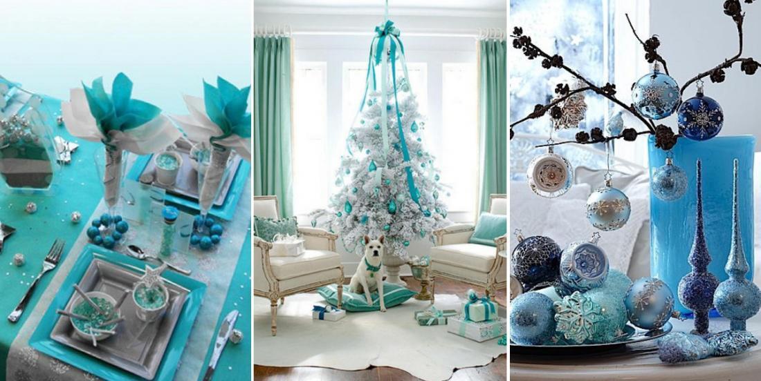 16 idées décorations pour avoir un Noël tout en turquoise