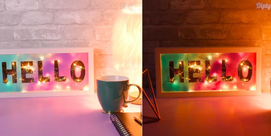 Comment fabriquer une boîte lumineuse en seulement 30 minutes et avec un petit budget!