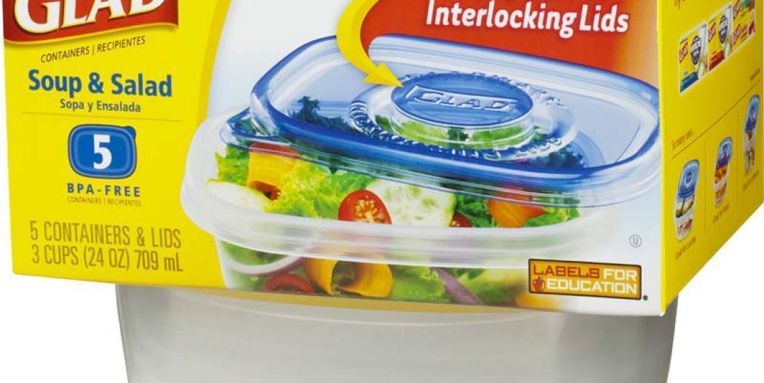 Ce qu'elle fait avec les couvercles de ses contenants Glad changera à jamais vos lunchs!