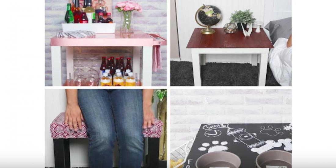 4 façons de transformer une petite table en quelque chose de vraiment cool!