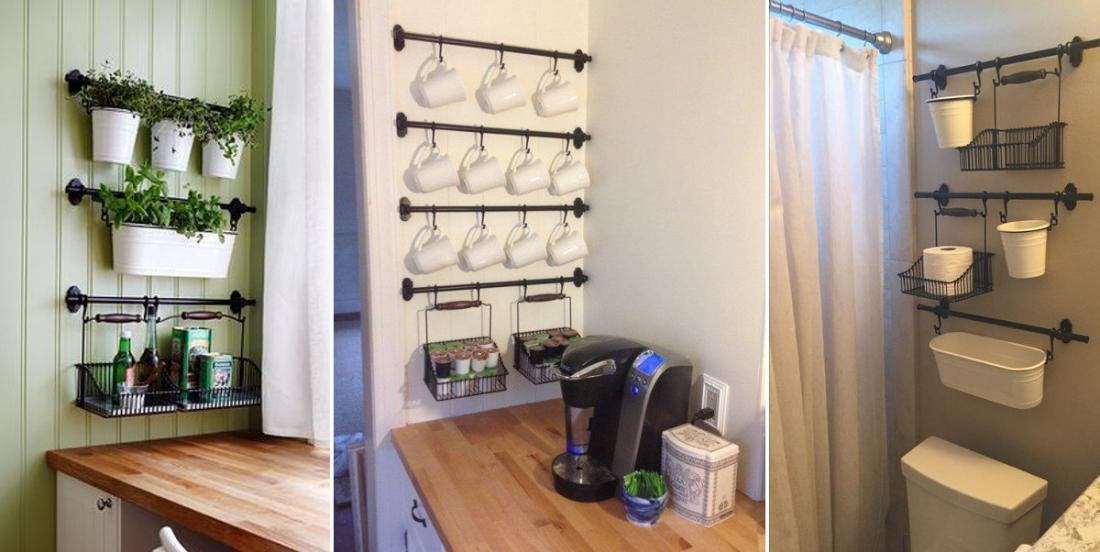 Utilisez le système de pôles Fintorp provenant du Ikea un peu partout dans la maison