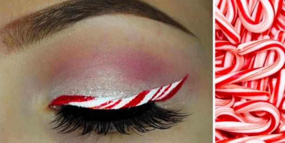 Le maquillage en canne de bonbon est LA tendance de l'heure pour Noël!