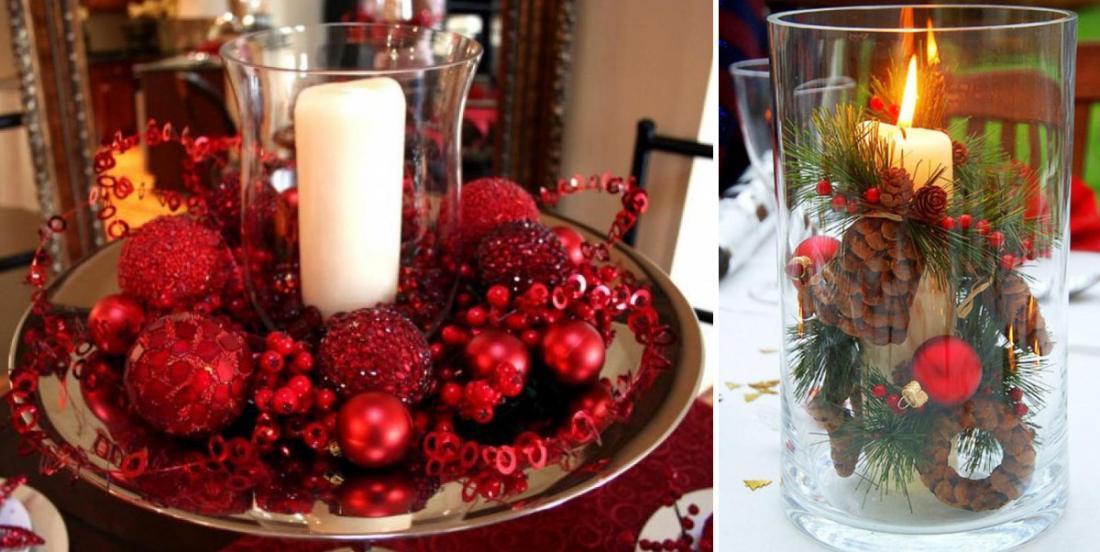 16 décorations faciles à bricoler pour le temps des Fêtes à partir de bougies!