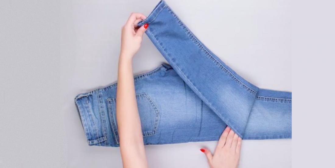 3 façons de plier vos jeans qui vous feront gagner plus d'espace de rangement!