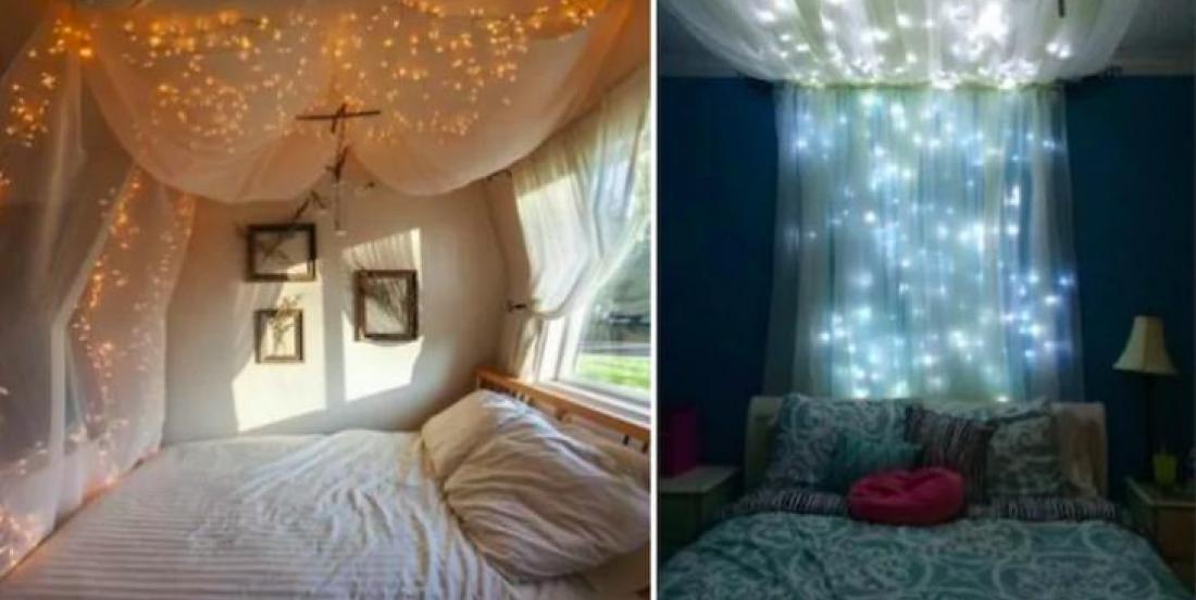12 façons de décorer avec des guirlandes de lumières à l'année longue