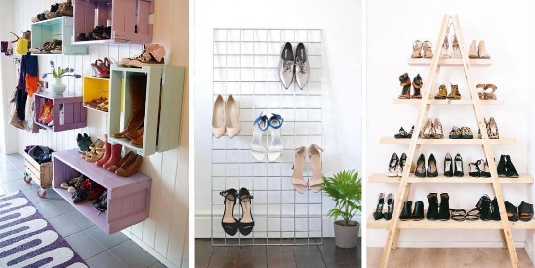 Vous ne savez plus comment ranger vos chaussures? Voici 12 solutions faciles à réaliser