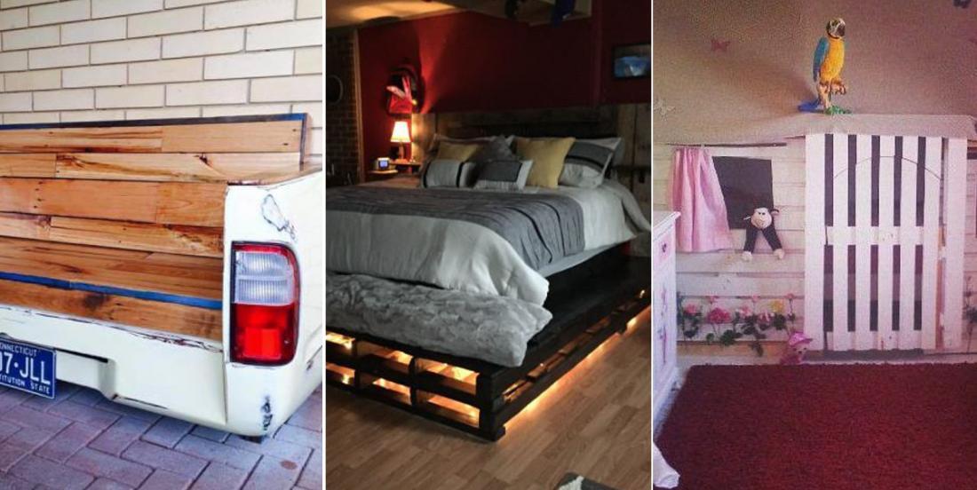 11 idées originales fabriquées à partir de bois de vieilles palettes récupérées!