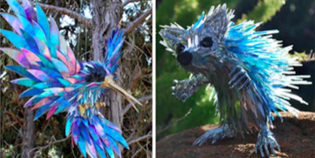 Il récupère de vieux CD pour créer des sculptures éblouissantes!