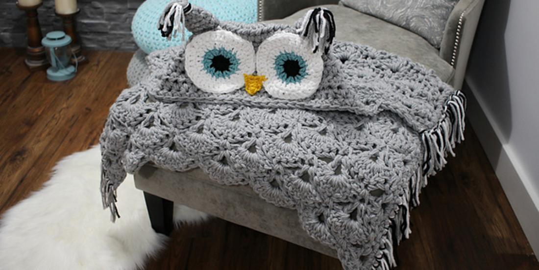 Apprenez à faire cette superbe couverture hibou, elle est parfaite pour rester bien au chaud cet hiver