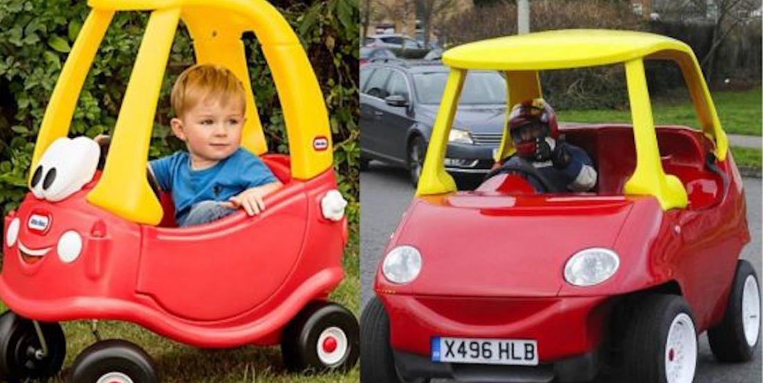La fameuse petite voiture Little Tike existe en version adulte et elle nous fait craquer!