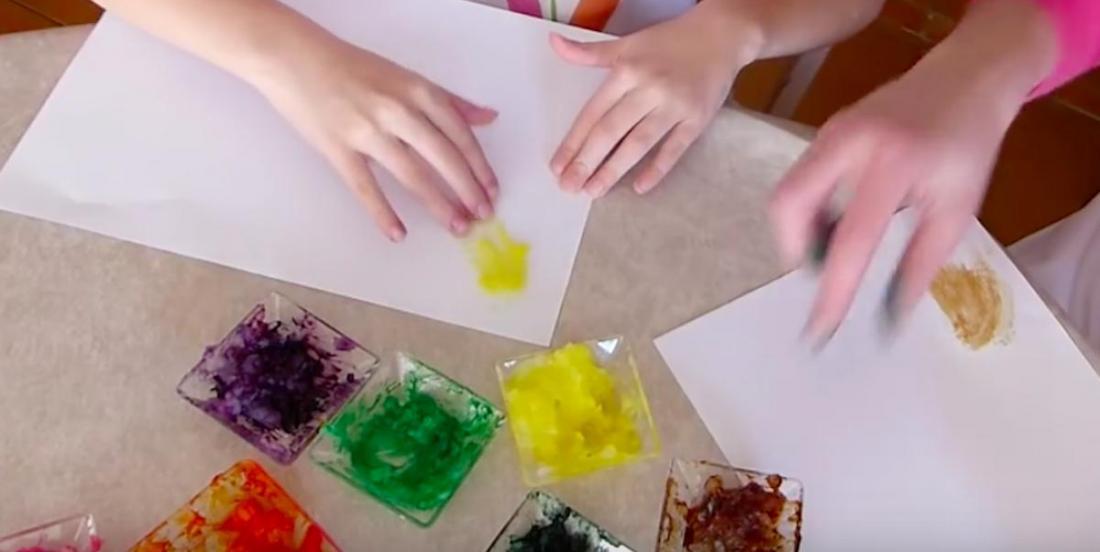 Recette de peinture à doigts comestible