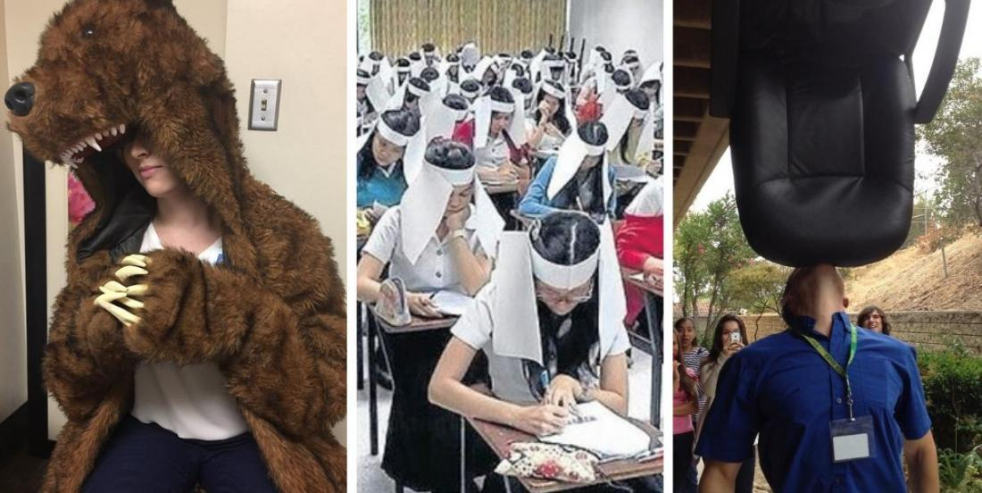 18 photos de professeurs créatifs, inventifs ou juste... un peu fous!