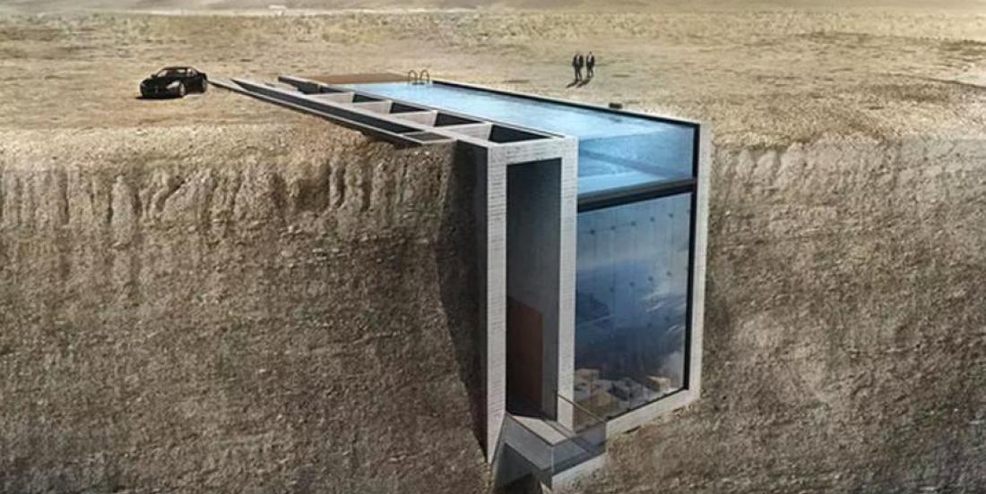 Cette fabuleuse maison est construite directement sur une falaise!