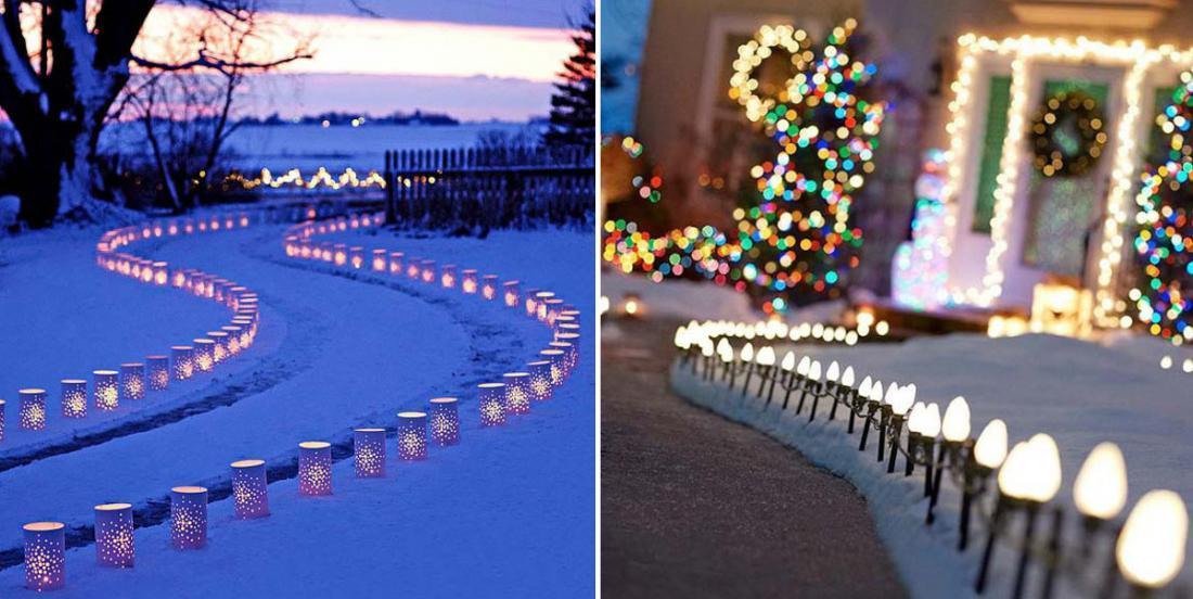 Créez une ambiance chaleureuse pour Noël à l'aide de lumières extérieures