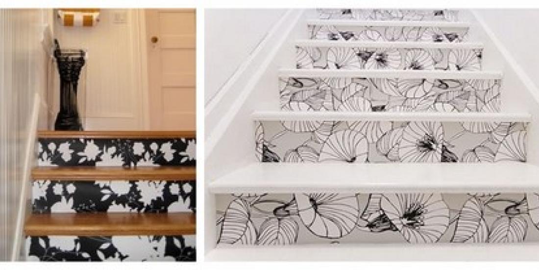 20 idées pour transformer complètement un meuble à l'aide de papier-peint