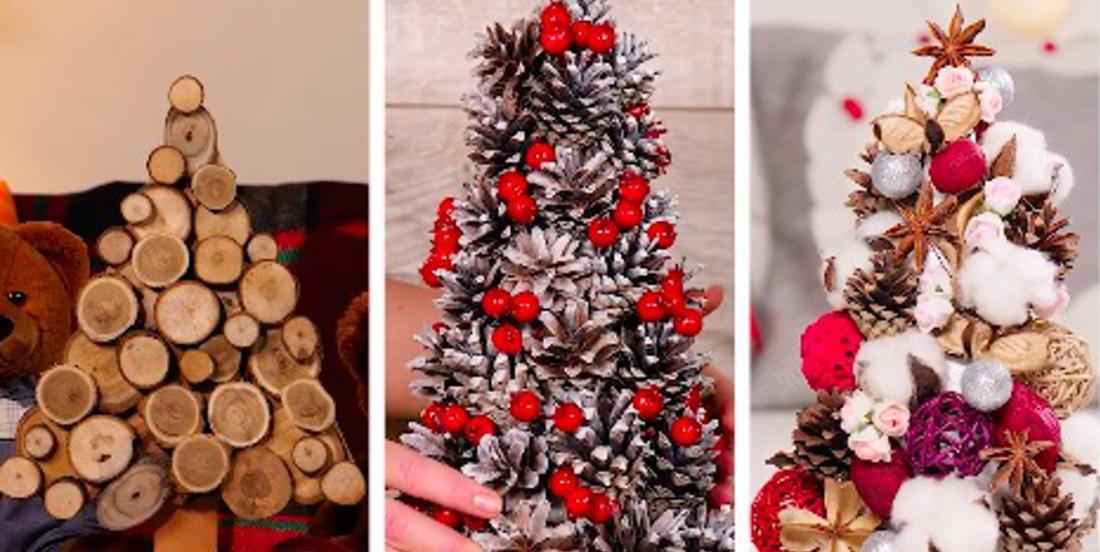3 façons différentes de créer des sapins décoratifs