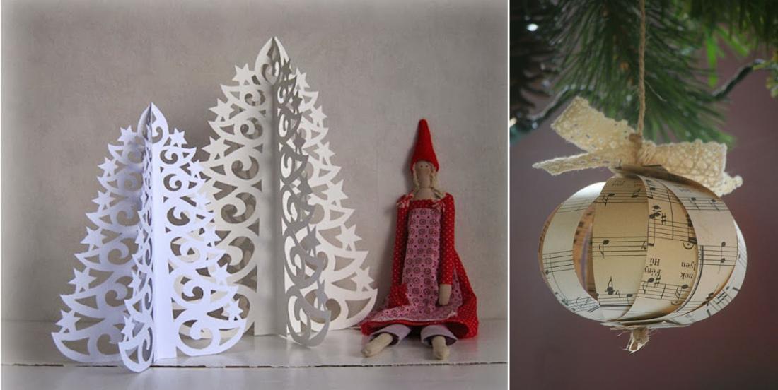 20 magnifiques décorations d'hiver à créer à partir de papier