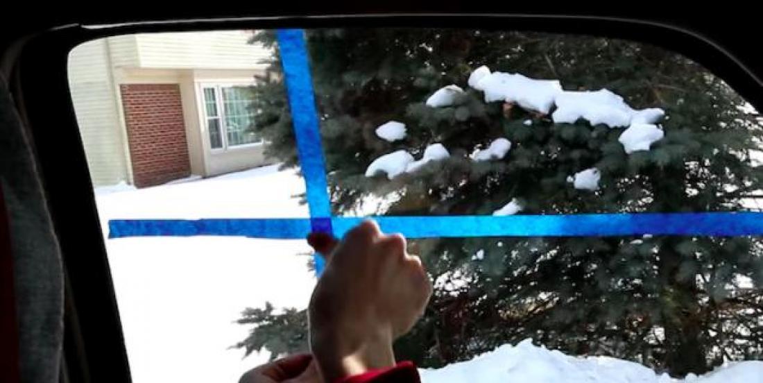 Voici une façon géniale de dégivrer votre voiture!