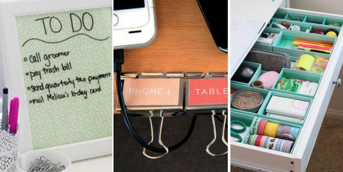 15 idées bien pensées pour un espace de travail très bien organisé!