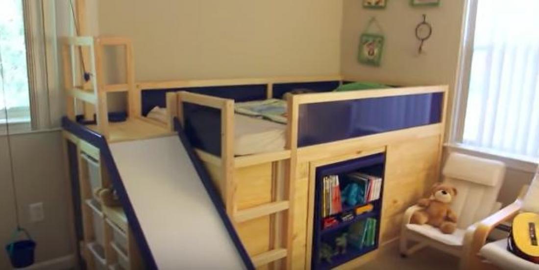 Ce père de famille amène les modifications de meubles IKEA à un tout autre niveau avec ce lit multifonction!