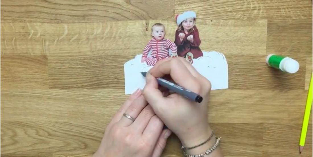 Créer une décoration unique pour votre sapin à partir des photos de vos enfants