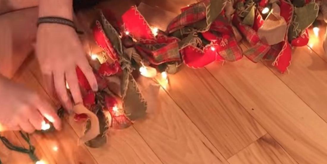 Transformez une guirlande de lumières en jolie décoration de Noël