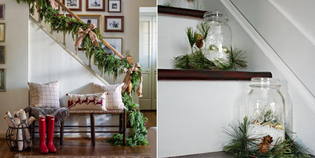 15 magnifiques inspirations pour décorer votre escalier pour le temps des fêtes