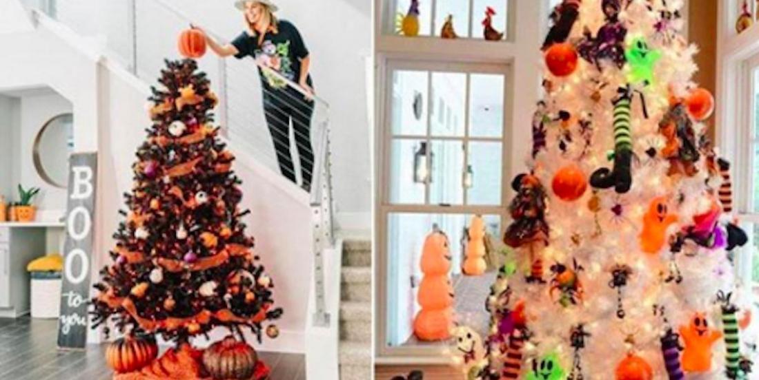 Après l'arbre de Noël, voici venue la mode du sapin d'Halloween!
