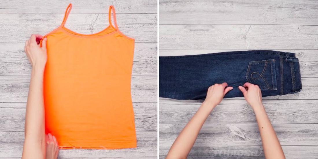 Pliez tous vos vêtements de façon à gagner plus d'espace de rangement