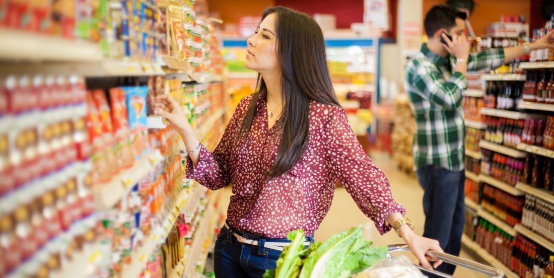 Les couleurs des emballages au supermarché veulent dire quelque chose...