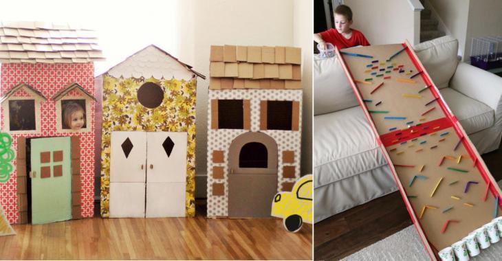 20 beaux jouets à bricoler avec des boîtes en carton!