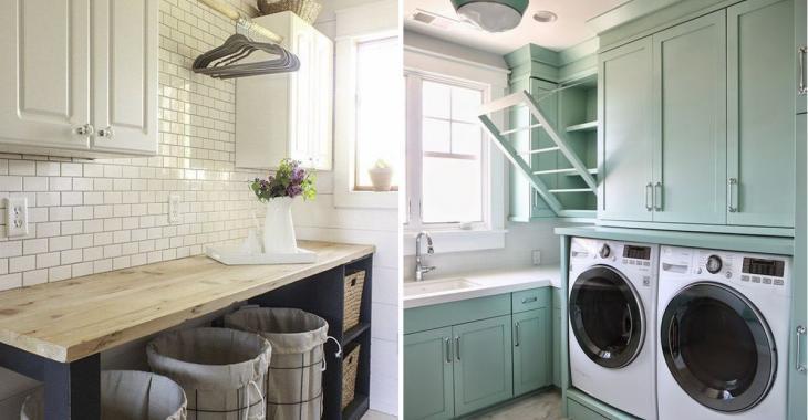 Organisez la buanderie: 16 astuces pour aménager une salle de lavage de rêve!