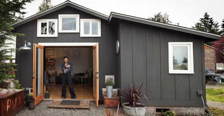 Une femme transforme son vieux garage en un sanctuaire de rêve!