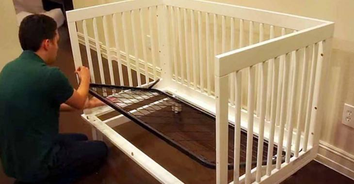 Quand son bébé n'utilisait plus son berceau, il l'a défait pour l'installer dans la cuisine
