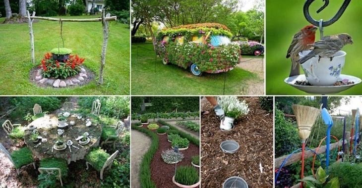 20 idées créatives pour apporter une touche de «Wow!» à votre jardin cet été!