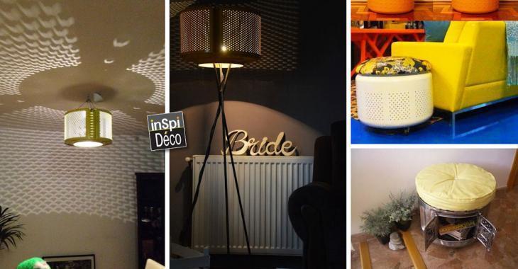 Avez-vous déjà pensé à intégrer à votre décor... un vieux tambour de machine à laver?!