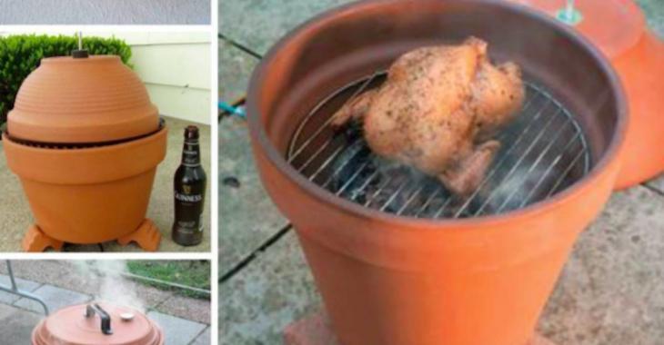 Comment fabriquer un fumoir extérieur dans un pot d'argile