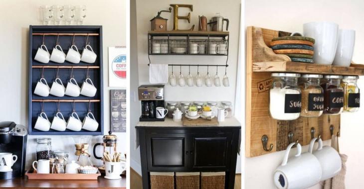 18 idées pour construire un bar à café sans trop dépenser